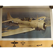 WW11 USA Original Propaganda Photographic Print - Douglas SBD Dauntless
