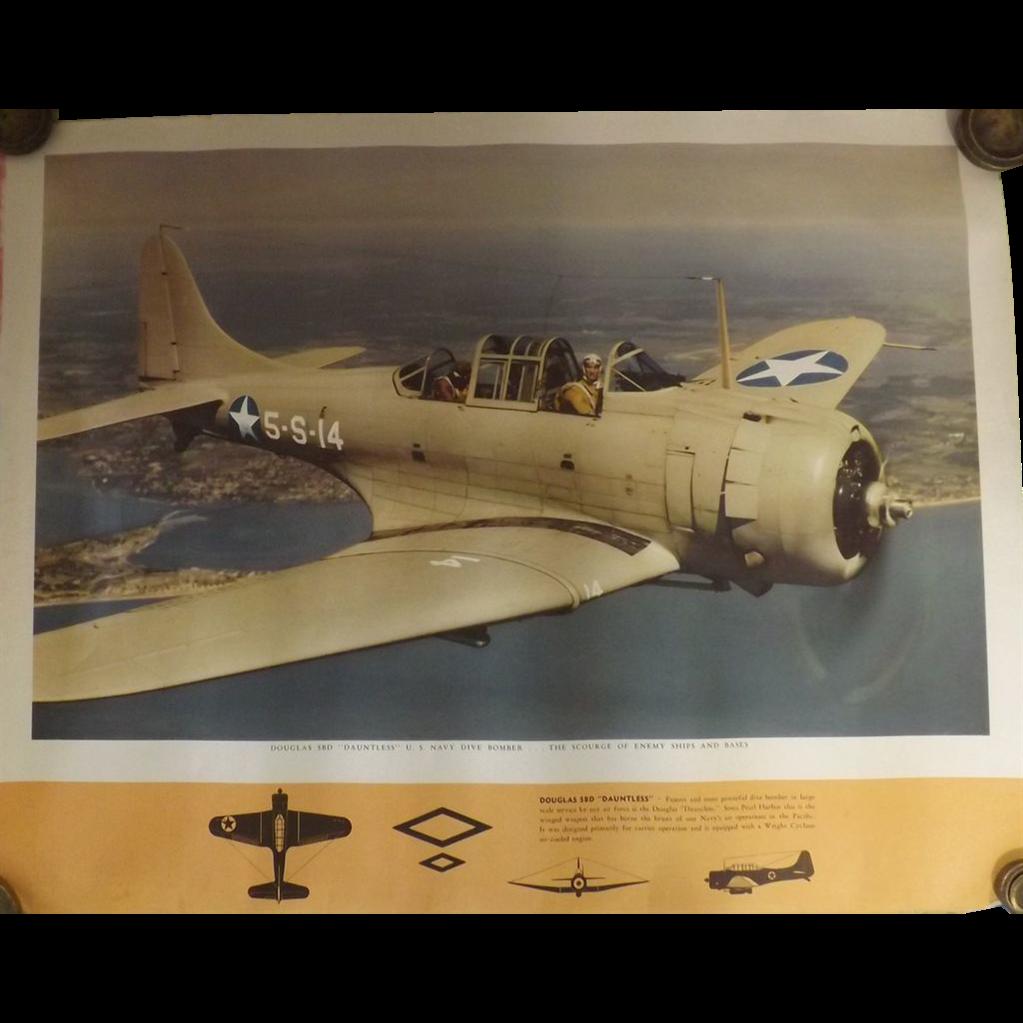 WW11 USA Original Propaganda Photographic Print - Douglas SBD Dauntless