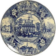 ADAMS Old Staffordshire Ware Plate - Governor's Palace Williamsburg, Virginia