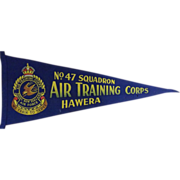 R.NZ.A.F Air Traing Corps No 47 Squadron Hawera - Pennant