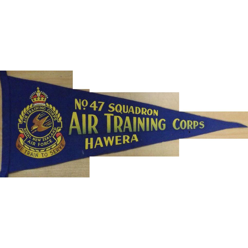 R.NZ.A.F Air Traing Corps No 47 Squadron Hawera - Pennant