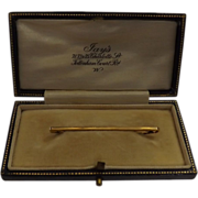 Vintage Boxed 15 Carat Gold Tie Pin - Jay's Jewelers Tottenham Court Road London