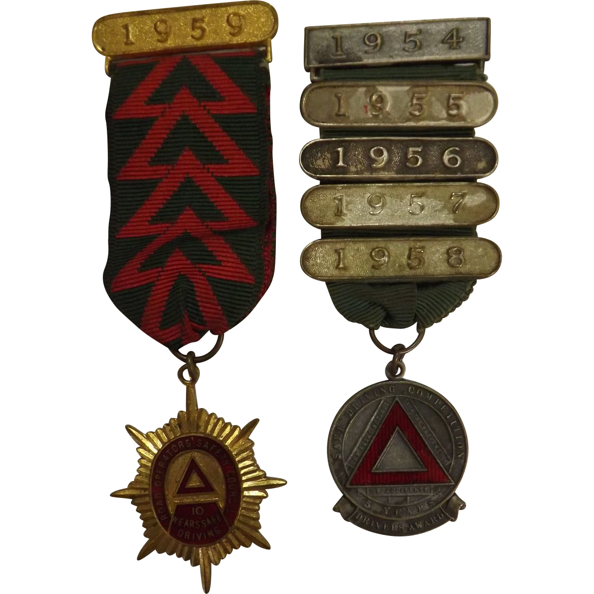 UK Bus Drivers Safety Award Medals 1949-1959