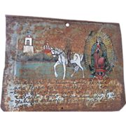 Mexican Folk Art RETABLO - Ex Voto - Circa 1920