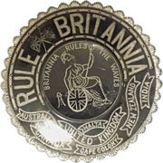 British 'Rule Britannia' Glass  Plate  - Circa 1880-1900