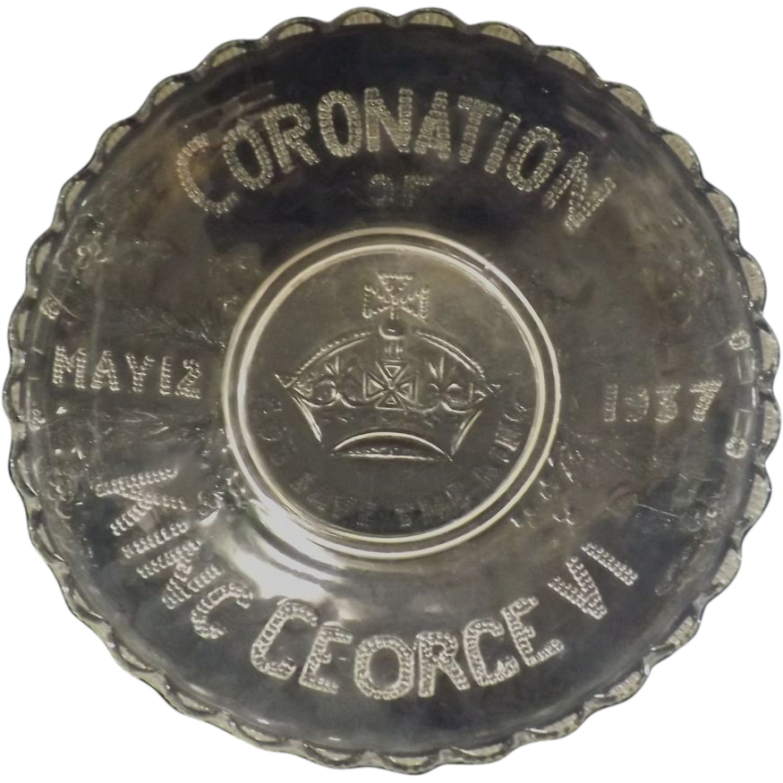 Coronation King George  VI  Glass Bowl - May 12th1937