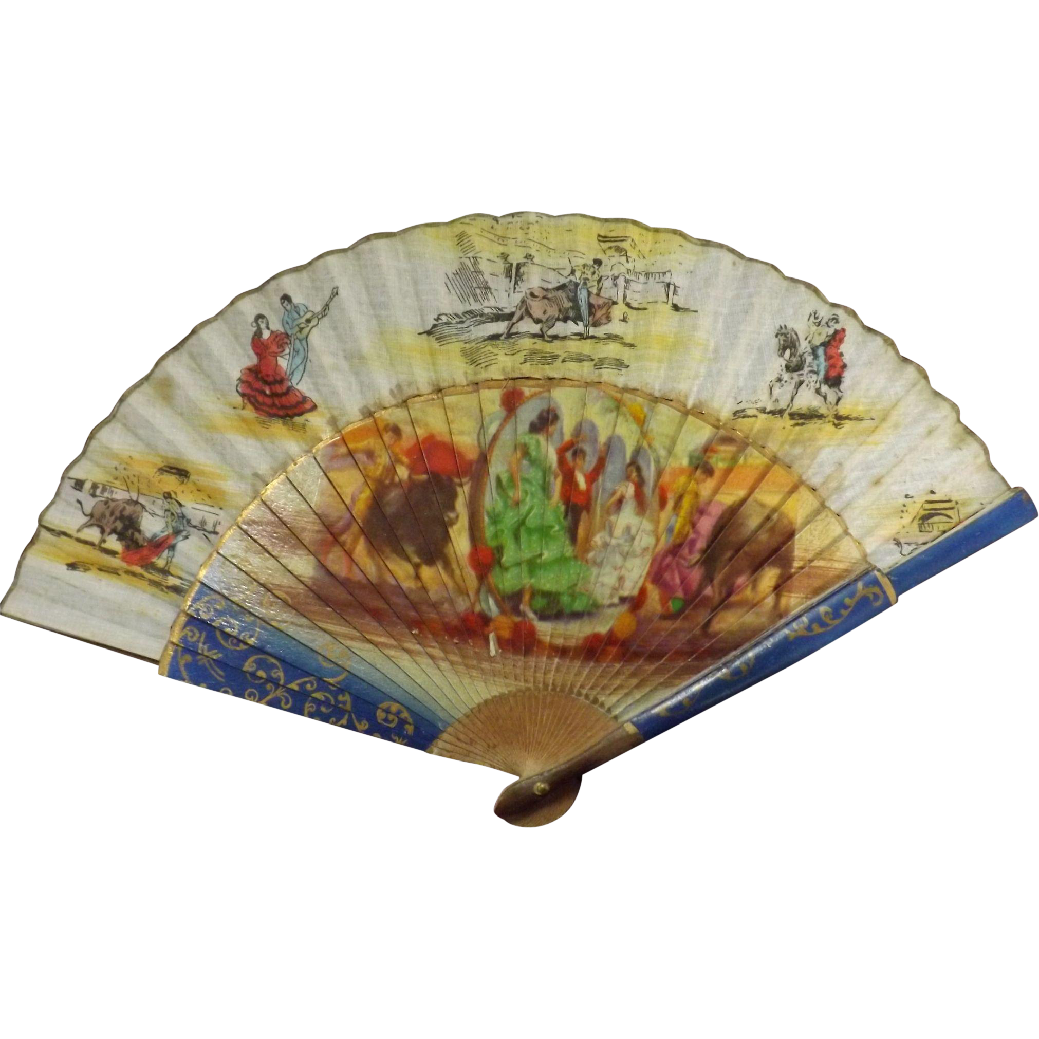 Old Spanish Ladies FAN - Circa 1920-1940
