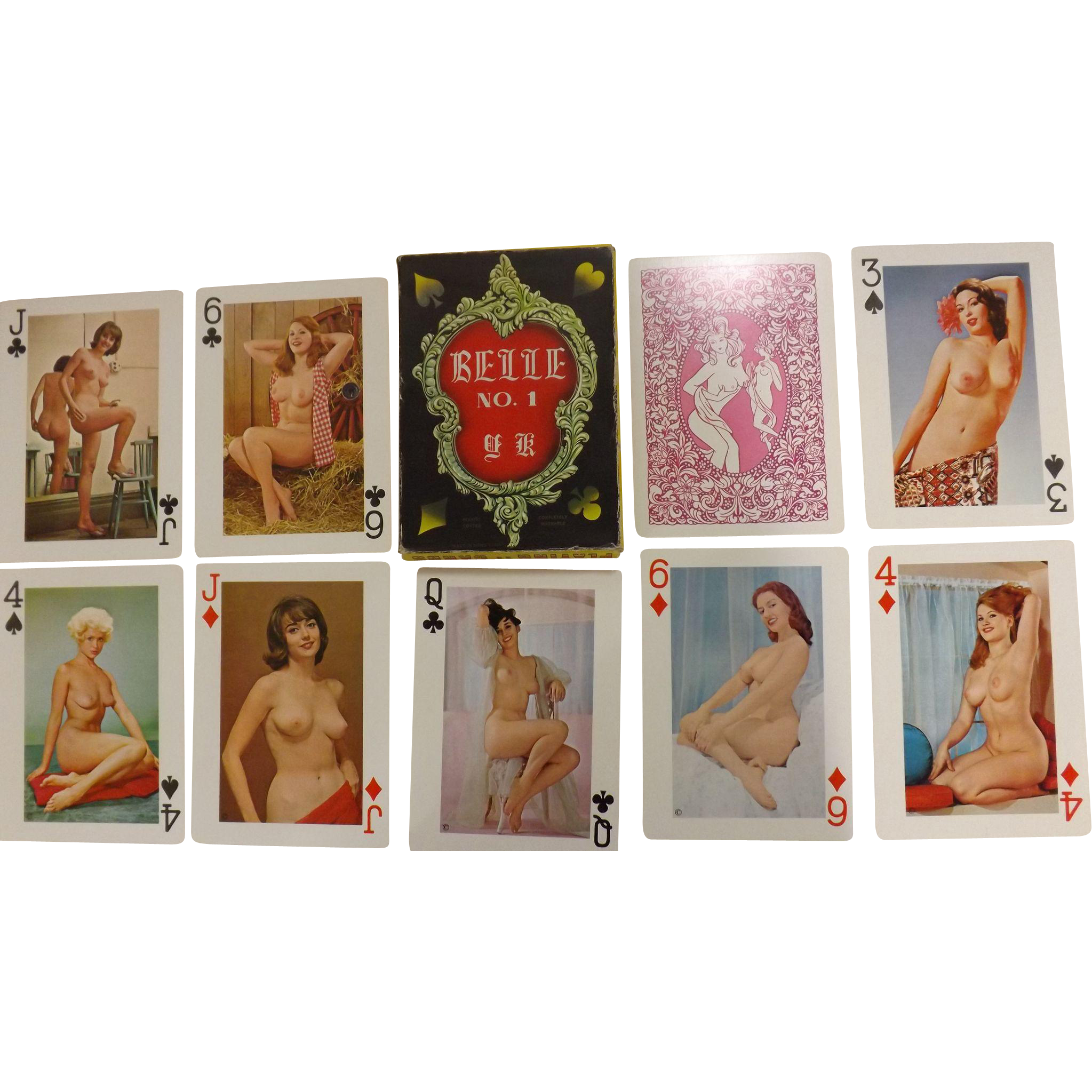 "BELLE No 1 Jumbo Sized ""Nudes"" Playing Cards  Circa 1960's -70's"