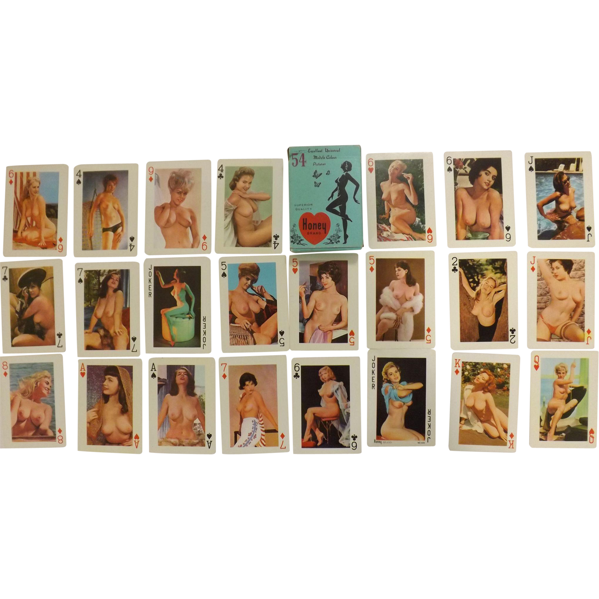"HONEY Brand ""Nudes' Playing Cards - Circa 1970"