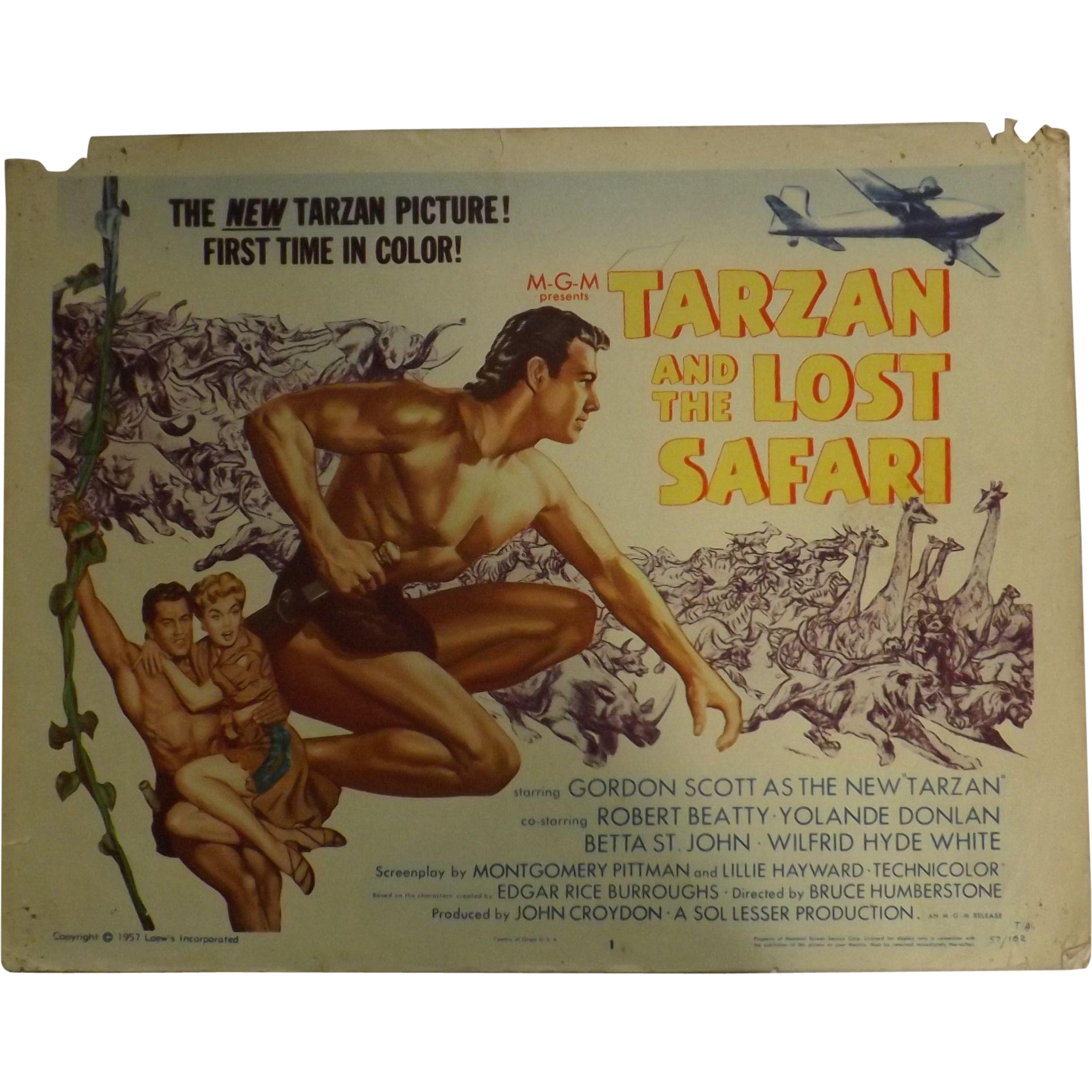 TARZAN and The Lost Safari - 3 Lobby Cards & One Photo Still