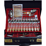 Boxed Cutlery Set By Inoxpran  - Italy - Stainless Steel with 24 Carat Gold Embellishments to Handles