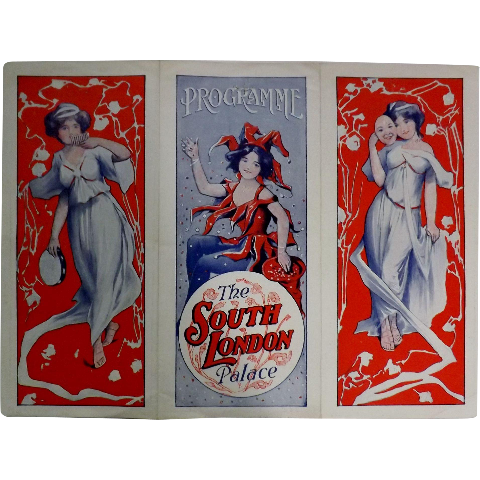 "Theatre Program ""The South London Palace"" Circa 1915"