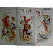 "Theatre Program ""The Tivoli"" The Strand London 1893"