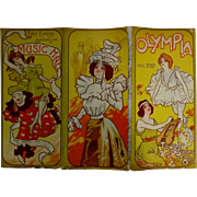 "RARE Original Art Nouveau Theatre Program ""The OLYMPIA"" Paris 1898"