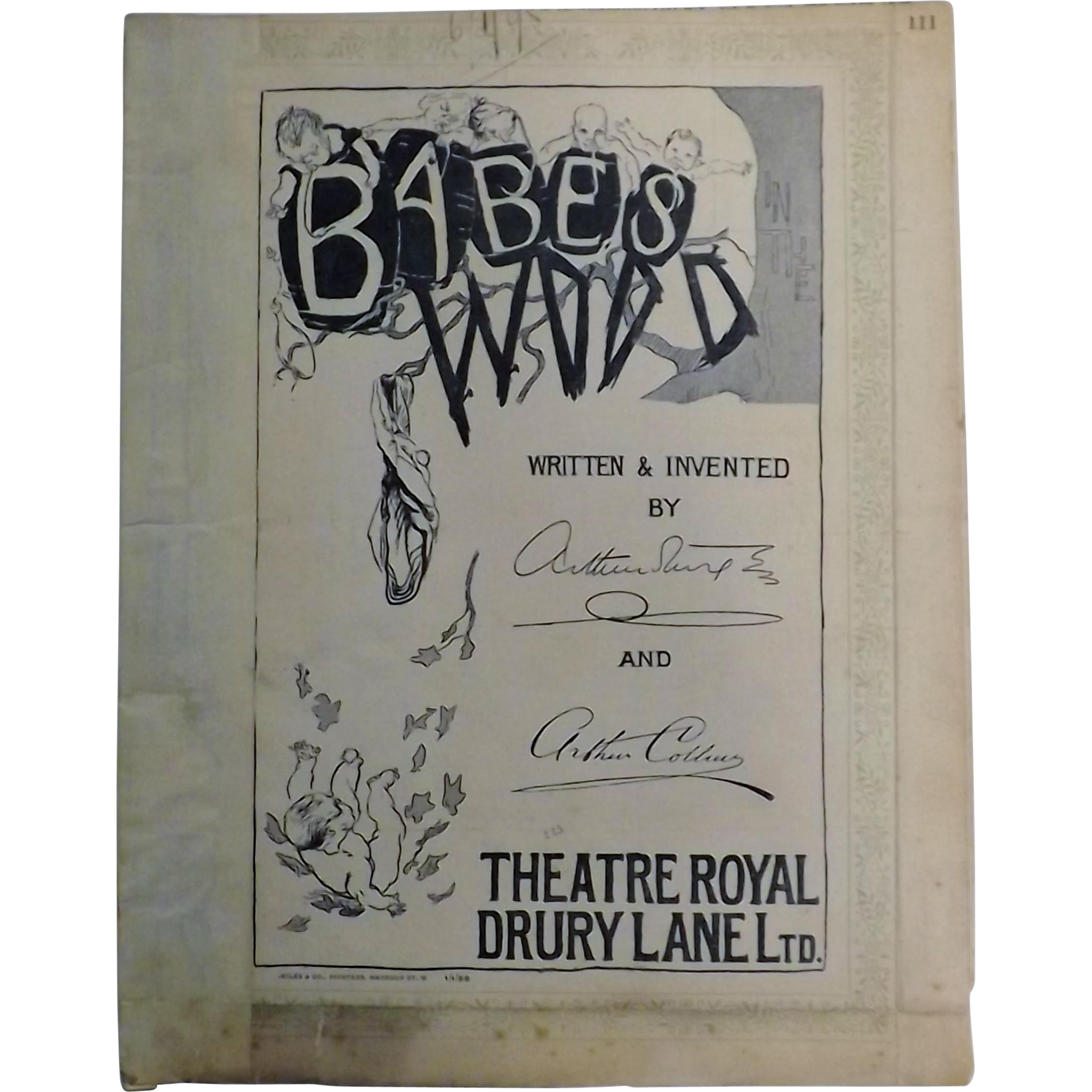 "Theatre Program ""Theatre Royal Drury Lane"" - London 1898"