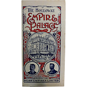 The Holloway Empire & Palace Theatre, Islington London, - Programme  July 1906