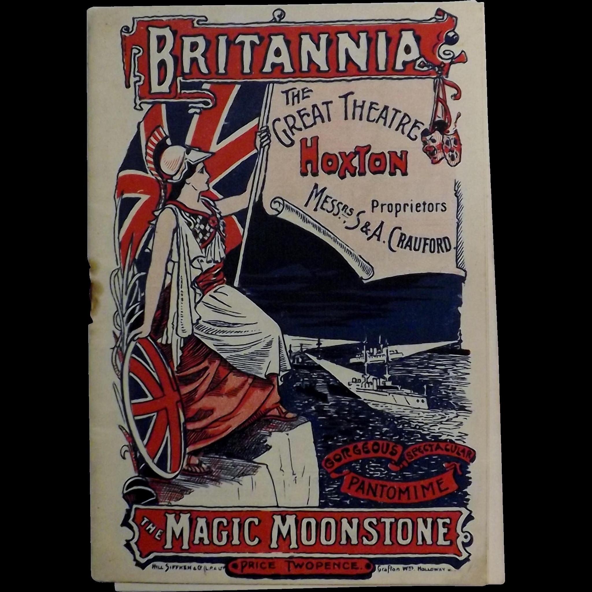 Britannia Theatre, Hoxton, Theatre Programme - London 1899