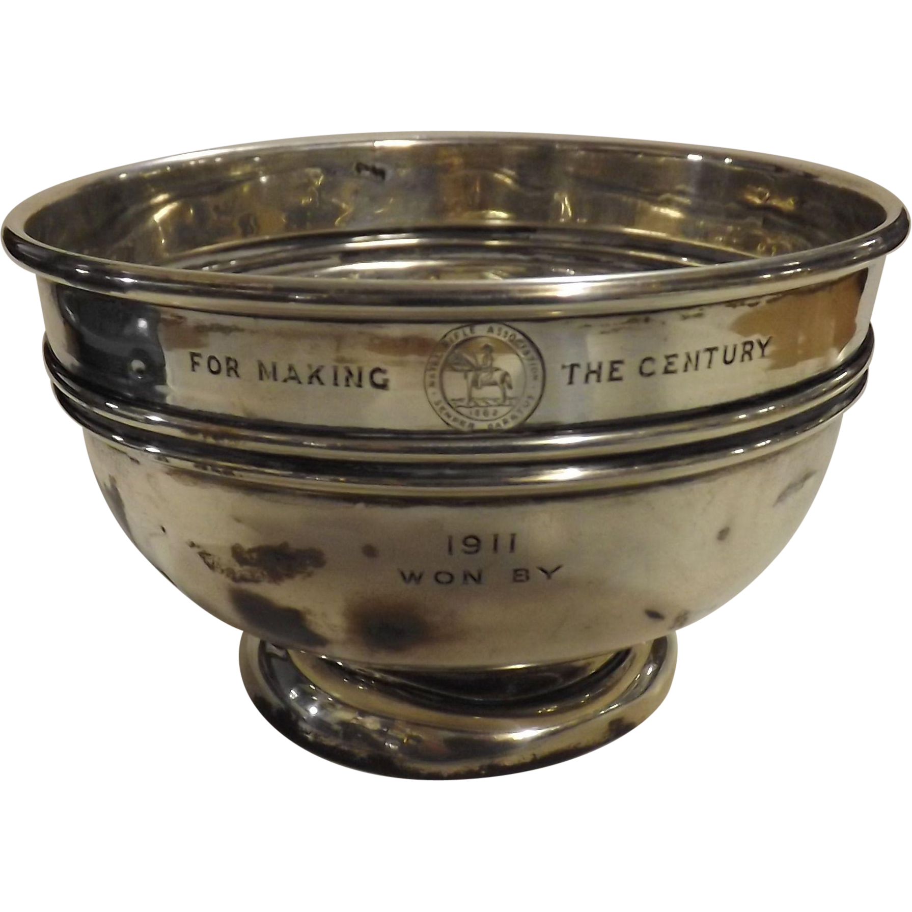 "Natal Rifle Association ""For Making The Century""  1911 Trophy Bowl"