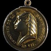 Napoleonic Medal 'Conquete de la Haute Egypt AN VII' - Galle 1799