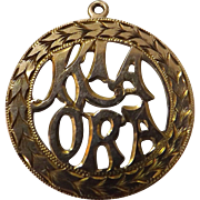 KIA ORA 9 Carat Gold New Zealand Pendant