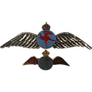 The Royal Aero Club of NSW -  Two Vintage Wings Badges