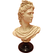 Stunning Large Parian Ware Bust of APOLLO Circa 1900-1920