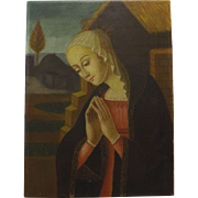 Madonna In Adoration by E. Bianchini ( Italy) Circa 1930