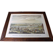 French Engraved Print 'Embarquement Des Anglais En Hollande, Le Trente Novembre 1799'