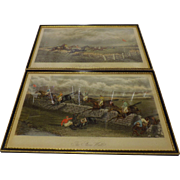 A pair of Victorian Horse Racing Engraved Prints
