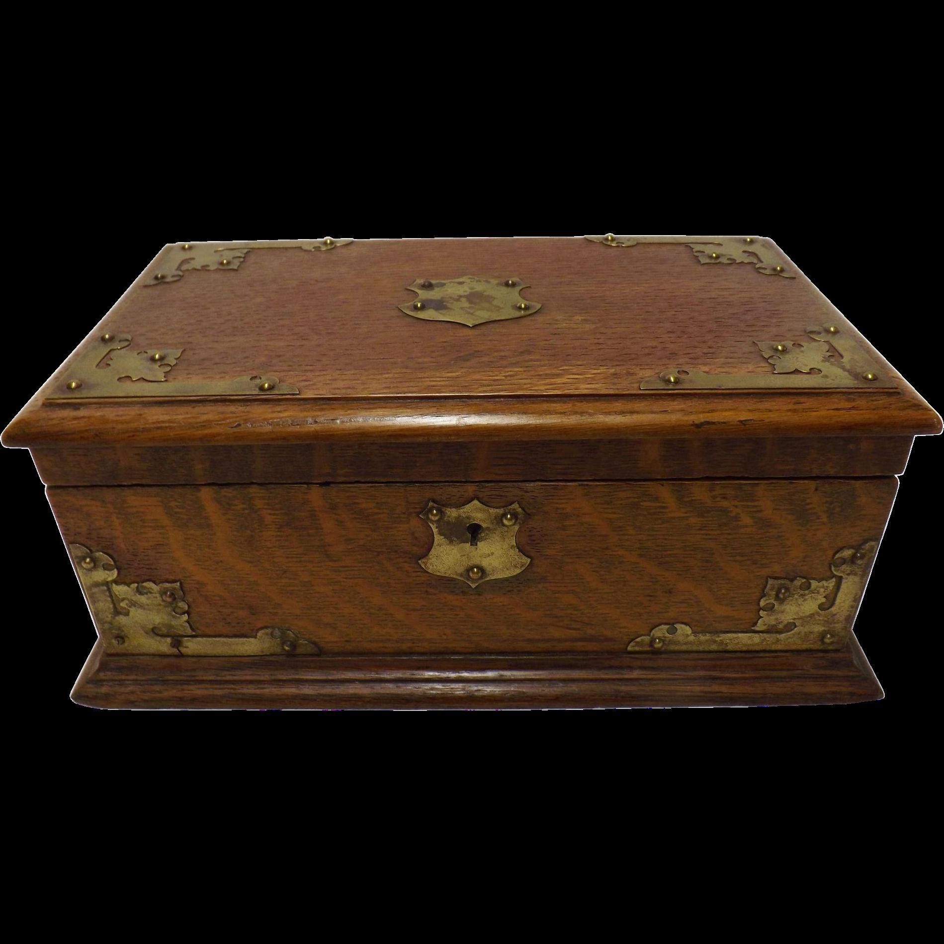 Arts & Crafts Deed Box - Circa 1900