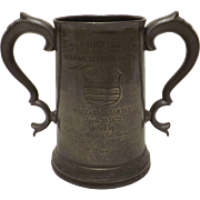 BURTON Rowing Club Large Pewter Presentation Tankard - 1872