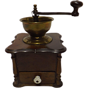 19th Century Large Belgium Coffee Grinder - Circa 1890