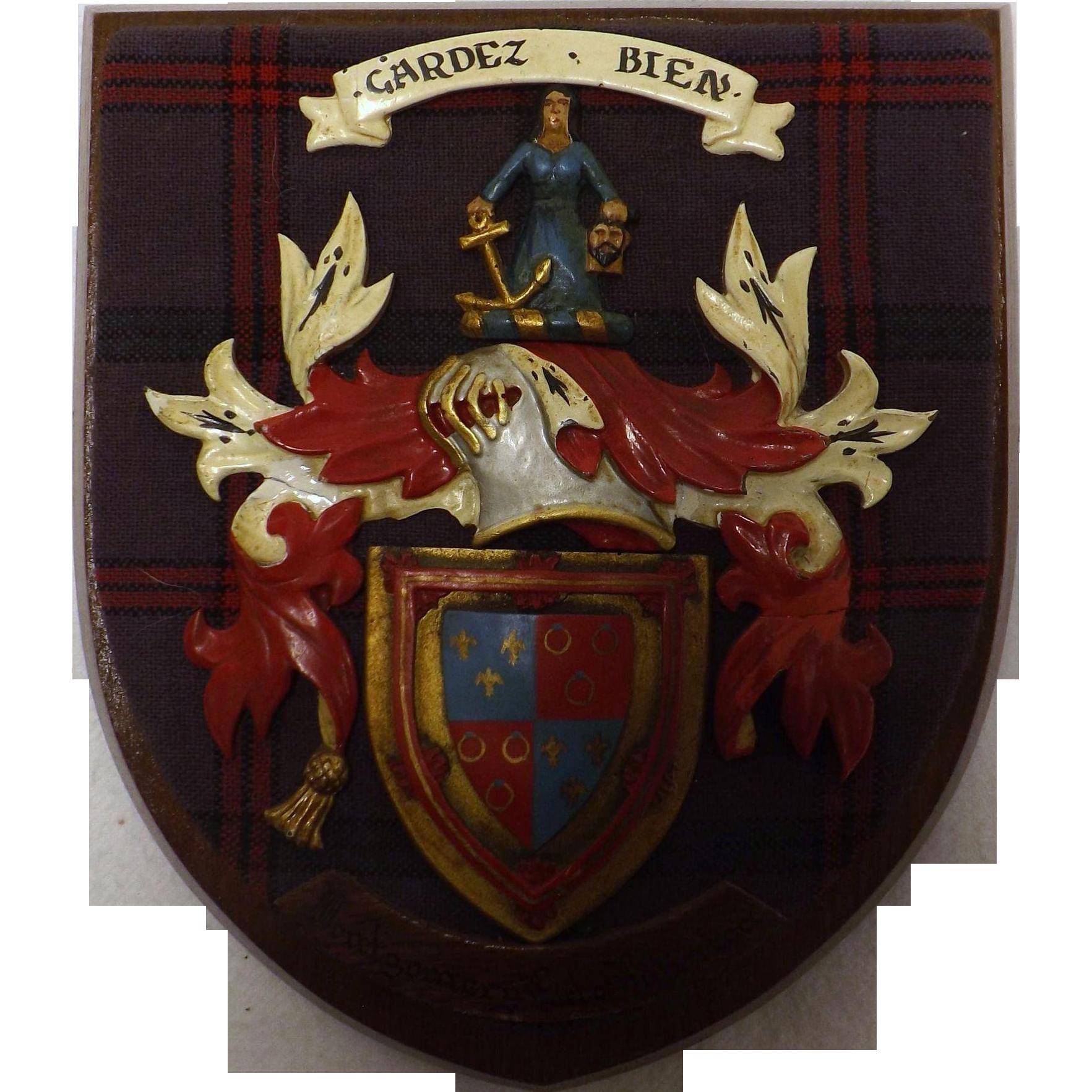 Clan Montgomery Plaque - Vintage