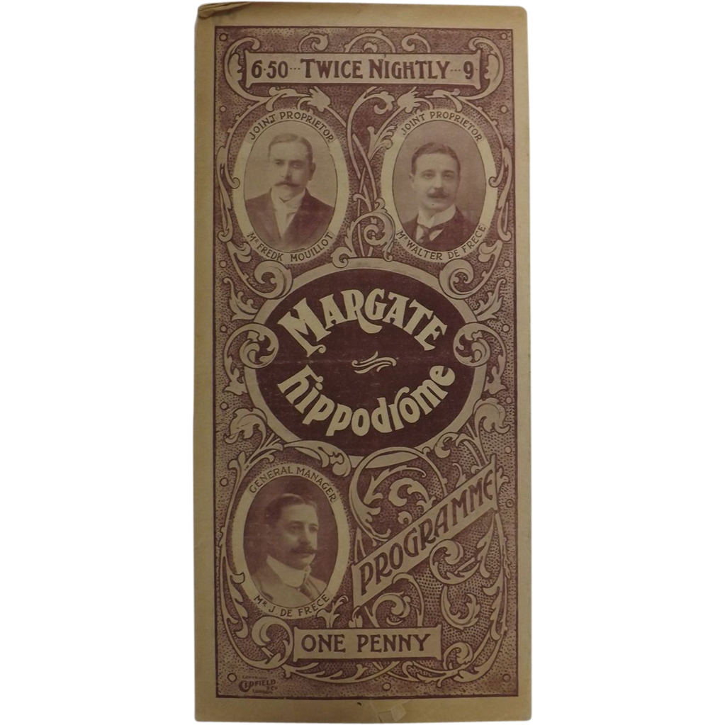 Theatre Program -  Margate Hippodrome 1907
