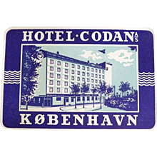 Two Original European Hotel Baggage Stickers