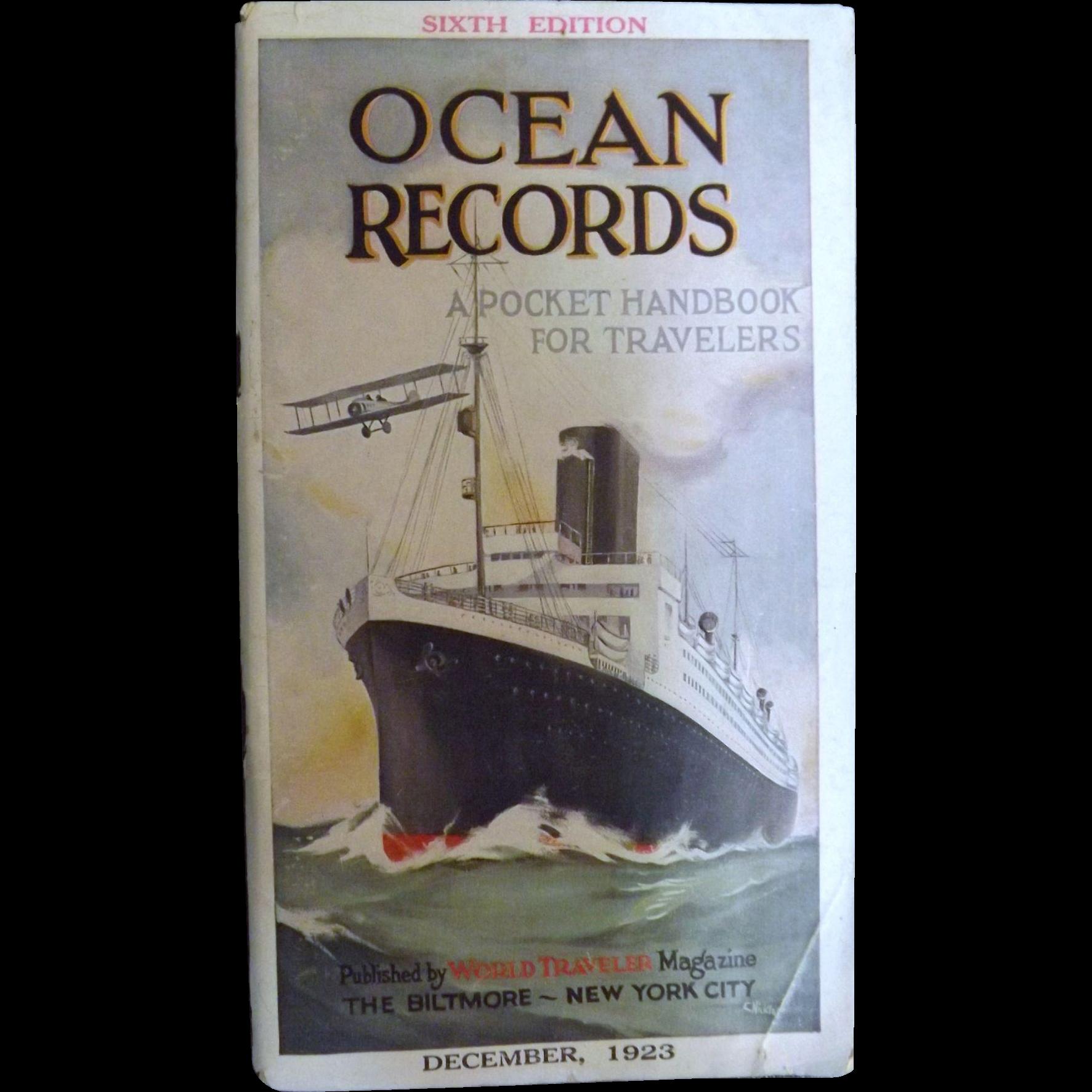 1923 Edition of Ocean Records - World Traveler Magazine