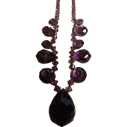 Beautiful Crystals Choker in a Purple/Plum Colour Tone