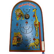 Retro 1960's small Pin Ball Game - Animals