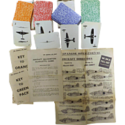ORIGINAL WW11  Aircraft Recognition Silhouette Cards - Set of Four Packs