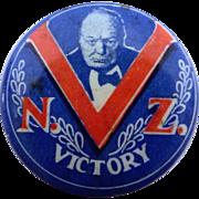 Winston Churchill World War II New Zealand Victory Badge