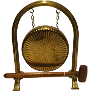 Edwardian Solid Brass GONG