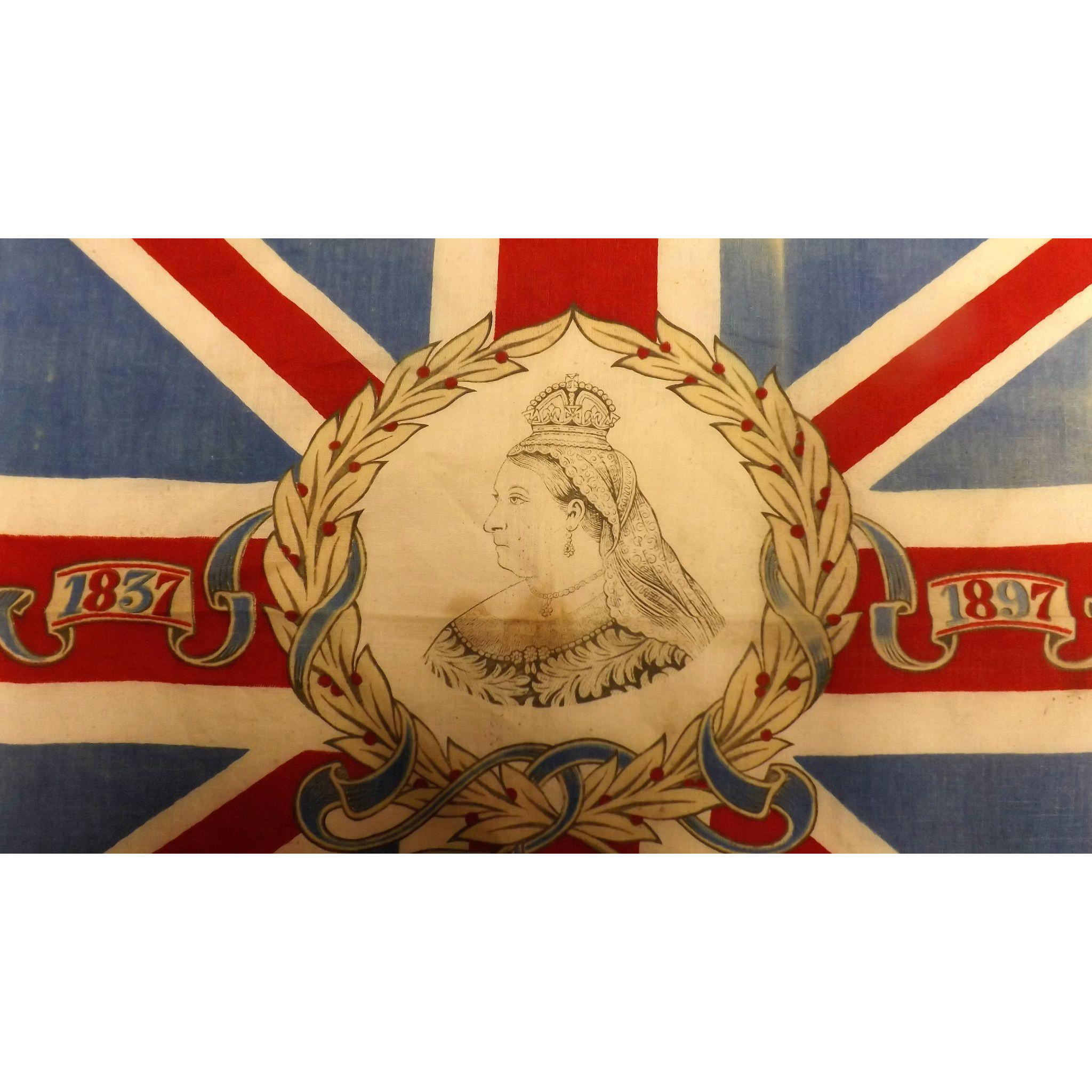 A smallish Banner or Flag Commemorating Queen Victoria's 60 Year Reign