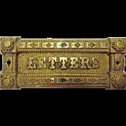 Victorian Brass Letter Slot