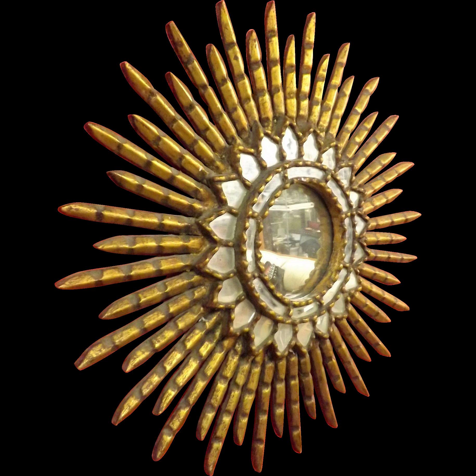 Peruvian SUN Mirror - Circa 1930 - 1940