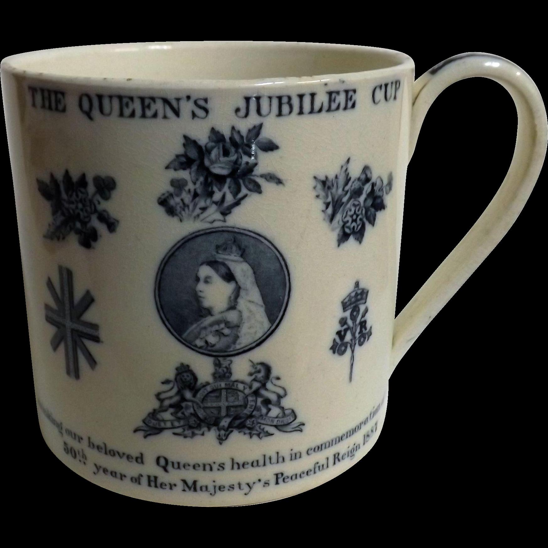 Queen Victoria Jubilee Commemorative Mug  - 1887 50 Years Reign