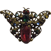 Czechoslovakian 1930's MOTH Brooch - Art Deco Period