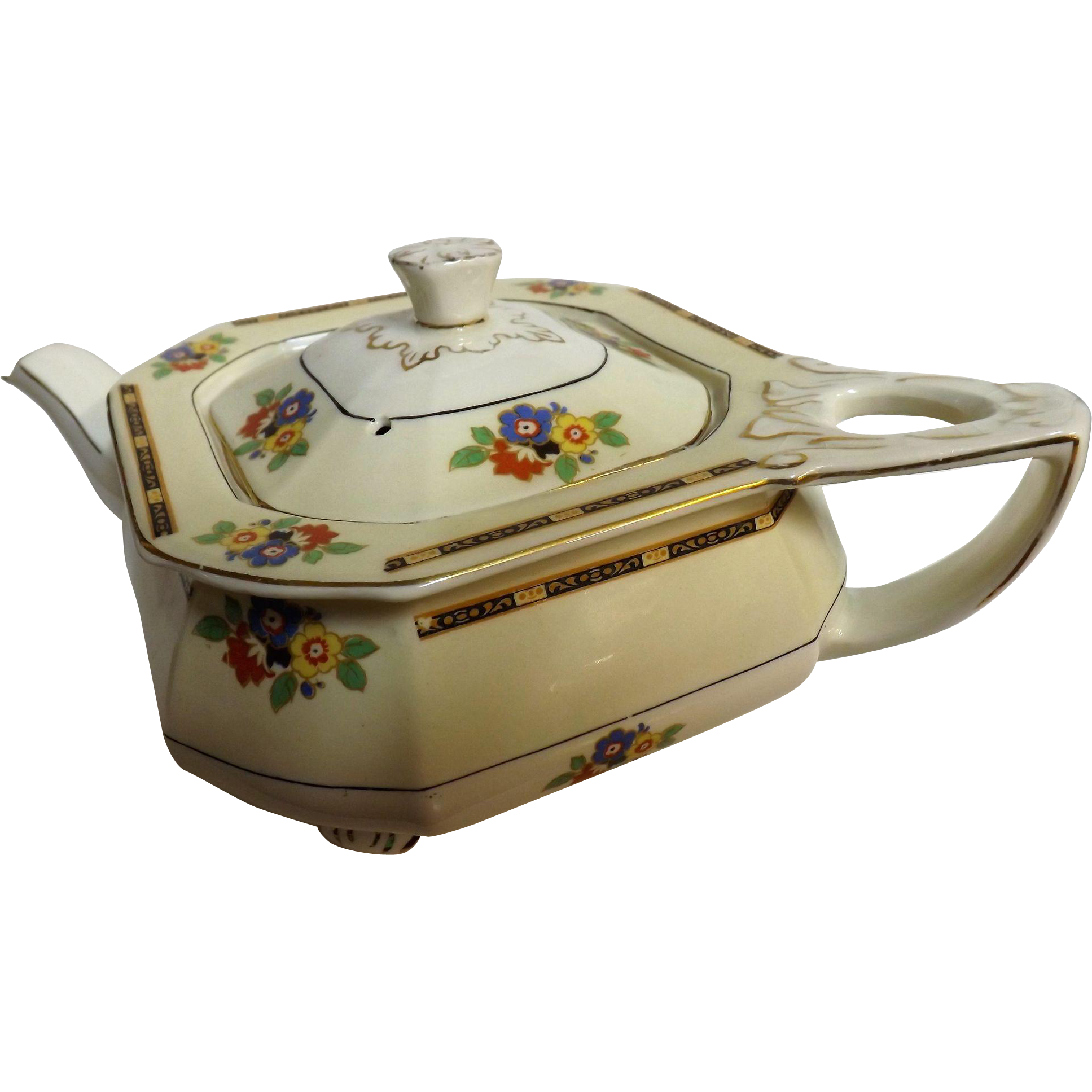 Art Deco Teapot By W.H. Grindley -England Circa 1925-1930