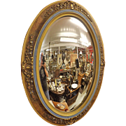Victorian Oval Convex Wall Mirror