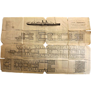 T.S.S. Monowai Deck Plans - Union Steamship Co 1935