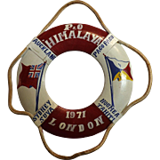 S.S. Himalaya Souvenir Mini Lifebuoy - 1971